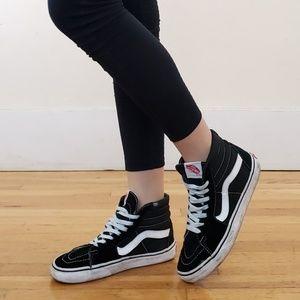 Worn Vans Hi-top Skateboard Sneakers